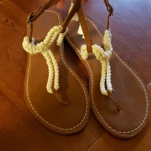 Gapkids girls rope sandals size 4